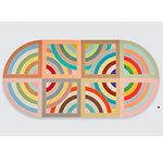 """Hiraqla Variation II"" (1968) by Frank Stella. Magna on canvas."